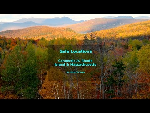 Safe locations for Connecticut, Rhode Island and Massachusetts.