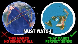 Flight Paths Debunked The Globe Model And Prove The Flat Earth! The Video Everybody Need To Watch!