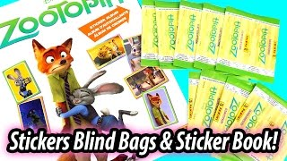Disney Zootopia Panini Stickers Surprise Blind Bags and Sticker Book! - Cute Scenes from the Movie!