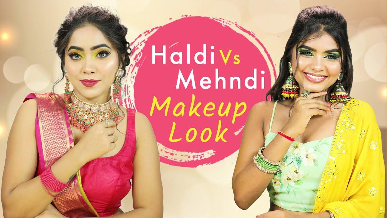 PAGALIYA to DULHANIA - Extreme Makeup Transformation | Haldi vs Mehendi Makeup Tutorial | Anaysa