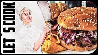 ✿ LET`S COOK ✿ Бургеры по-немецки с медово-горчичным соусом и хрустящим коул-слоу с беконом ♥