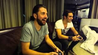 Dimitri Vegas & Like Mike - Very First Mortal Kombat X Challenge incl Ummet Ozcan & Martin Garrix