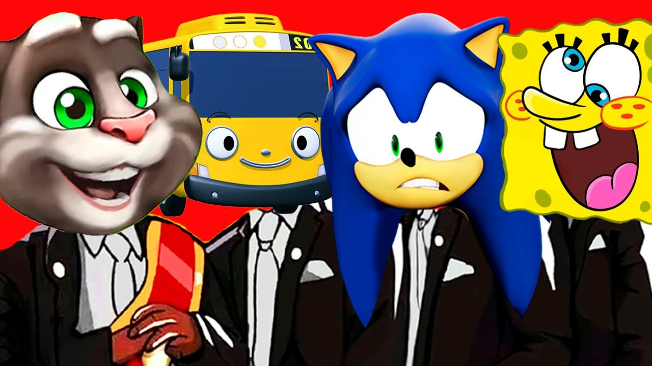 Talking Tom & Spongebob & Tayo the Little Bus & Sonic - Coffin Dance Song Megamix (Cover) Basilic