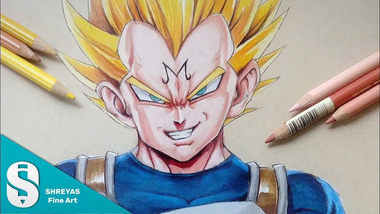 Merveilleux Mot-Clé Vegeta Drawing With Colour