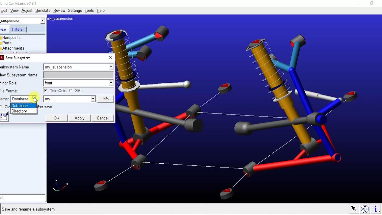 Adams Suspension Design Software