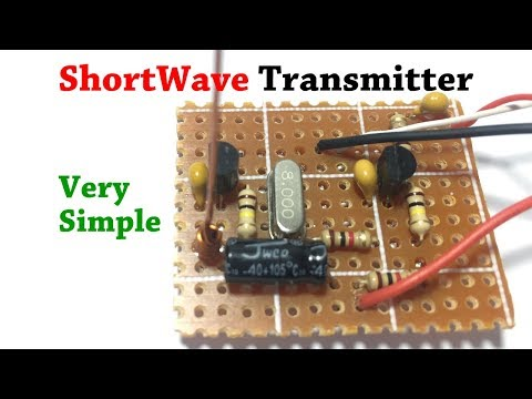 DIY Simple Short Wave Transmitter With XTAL Oscillator Steady Frequency