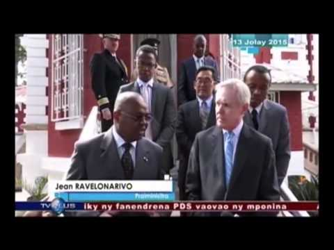 Secretary of the Navy Visits Madagascar