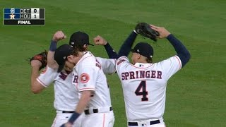 5/22/17: Astros blank Tigers in one-hit shutout