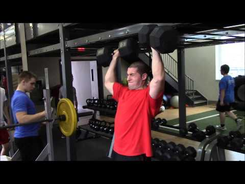 100 Lbs Standing Dumbbell Military Press