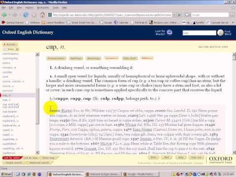 Online Dictionaries Part 3 - Oxford English Dictionary Online
