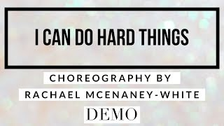 I CAN DO HARD THINGS line dance demo, choreography by Rachael McEnaney-White