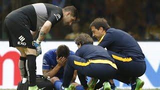 La lesión de Fernando Gago - Boca-River - Fecha 12 del Torneo de Transición 2016