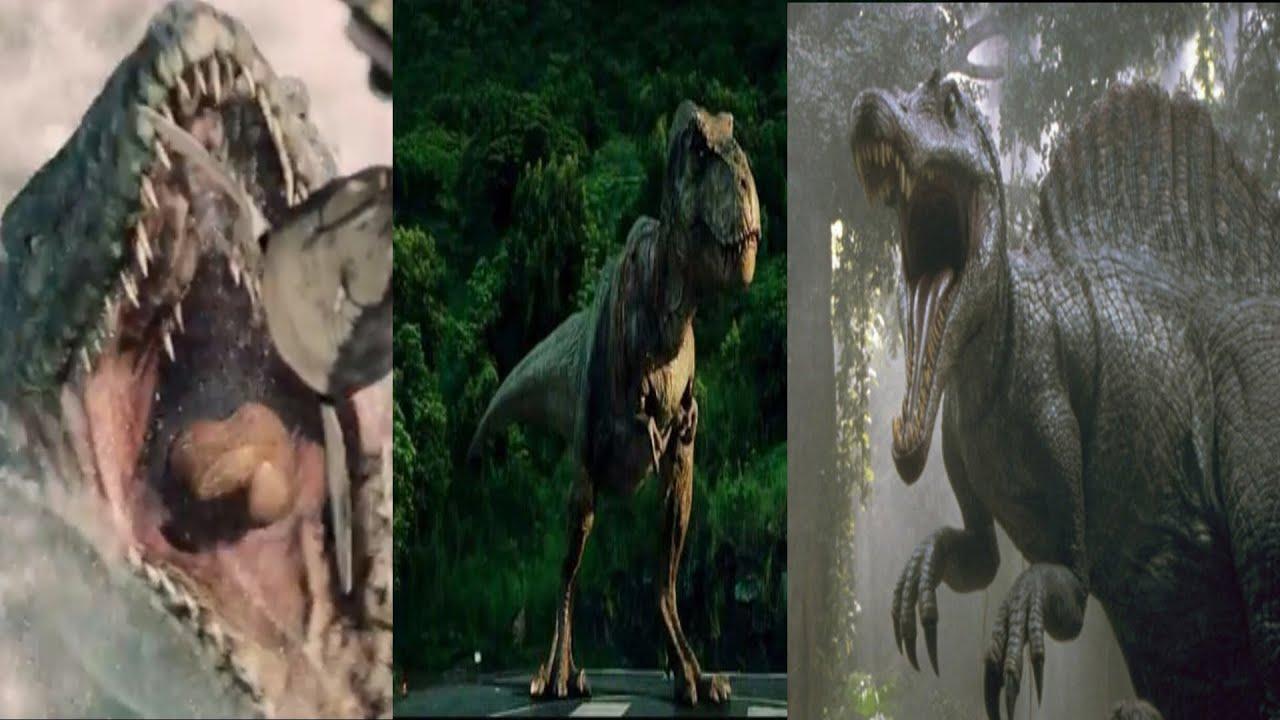 Mosasaur Vs Rexy Vs Spinosaurus Hd Youtube