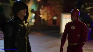 Flash 5x09 Elsworlds-Flash,Arrow,Supergirl y Superman Vs Amazo [2/2] (Español Latino)