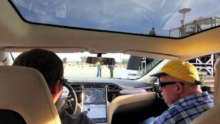 Tesla S - First Test Drive Demo