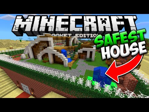 THE SAFEST HOUSE IN MINECRAFT POCKET EDITION (The Worlds Most Safe Redstone House)