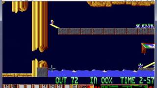 "Lemmings on ATARI ST - Mayhem level 29 - ""Save me"""