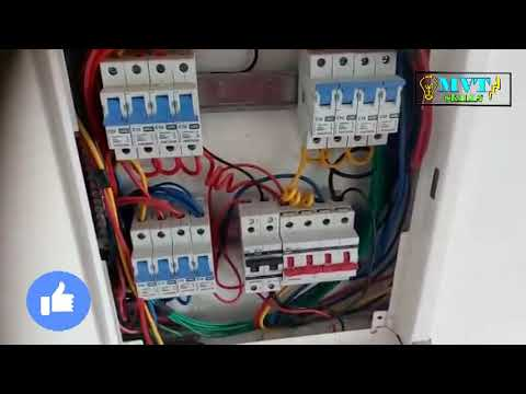 How To Db Dressing And Connection Mcb Box Electrical Distribution Youtube