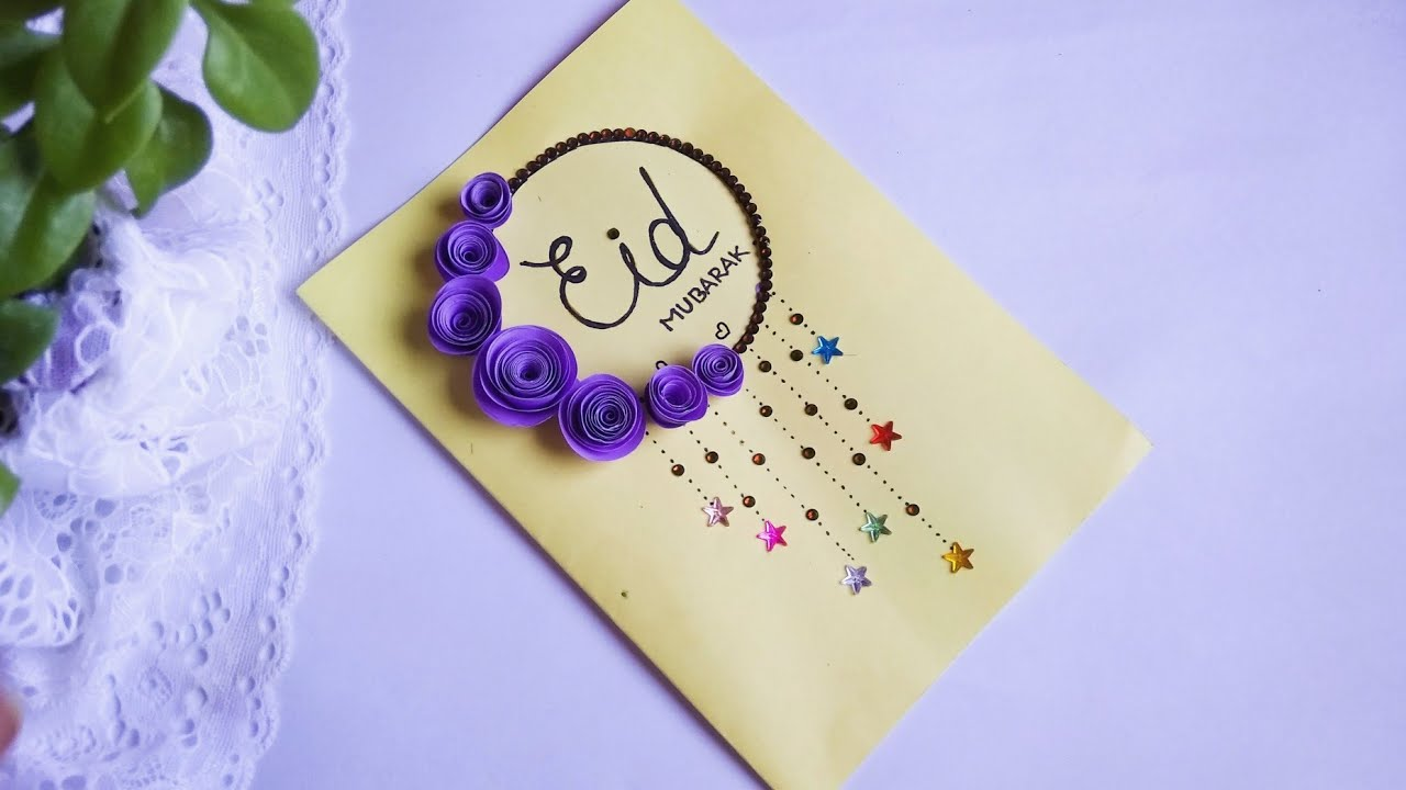 gorgeous looking eid card how to make beautiful eid card