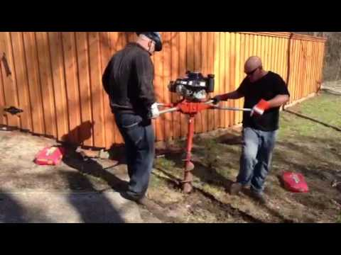 How To Use A 2 Man Auger Mikeandmikeremodeling Com Youtube