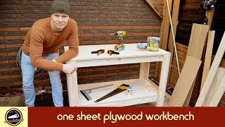 Solid workbench from 1 sheet of plywood | Cheap and Easy to Build! | #1