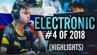 electronic - HLTV.org's #4 Of 2018 (CS:GO)