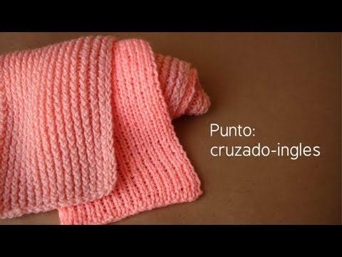 Bufanda de doble punto (cruzado-ingles) // Telar maya ...