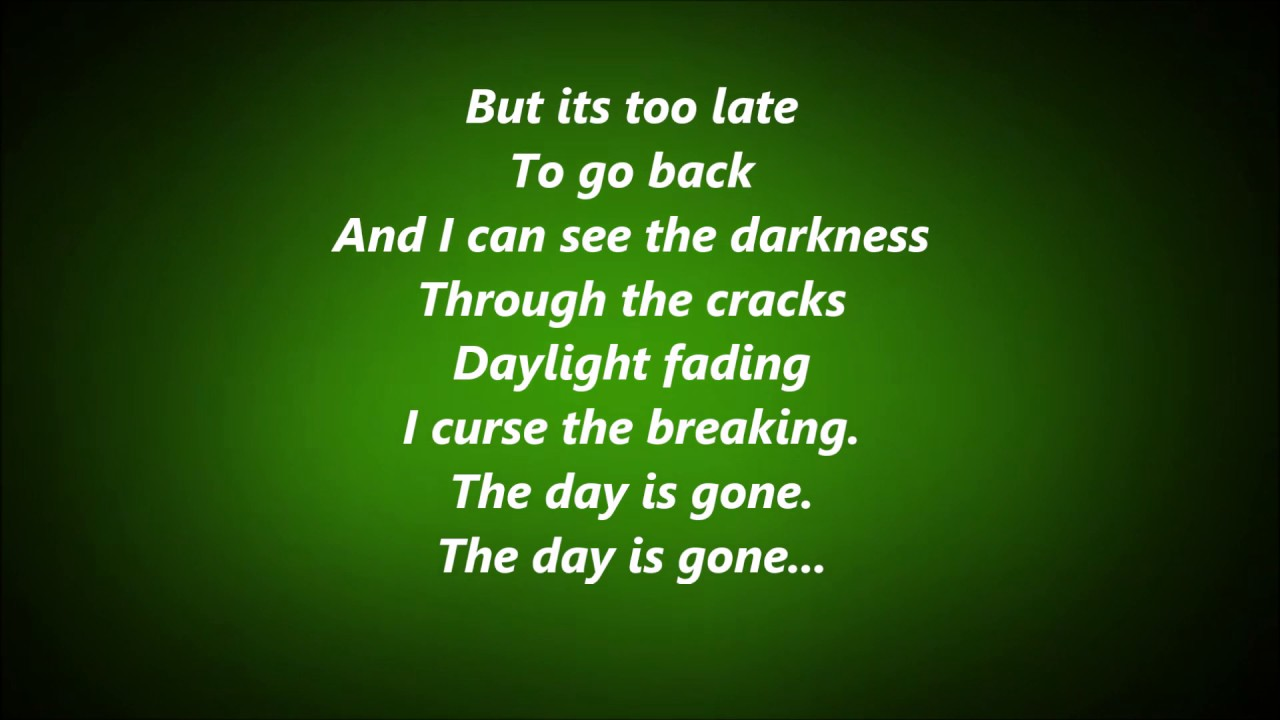 HAL KETCHUM - ANOTHER DAY GONE LYRICS