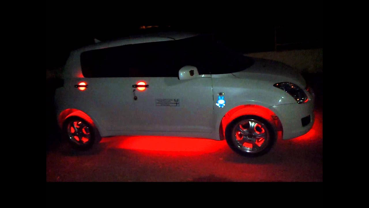 Swift Car Modified With Lights By Punjabi Boys From kapurthala