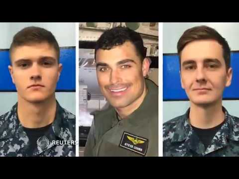 U.S. Navy names three missing sailors after Pacific plane crash