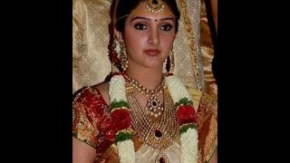 Sridevi vijaykumar wedding jewellery and sarees: Manjula daughter Sridevi vijaykumar Rahul wedding