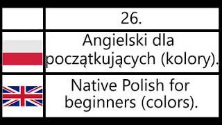 26. Angielski dla początkujących (kolory) - Native Polish for beginners (colors).