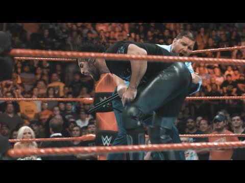 The Miz & The Miztourage attack Dean Ambrose and Seth Rollins in slow-motion: Exclusive, July 20