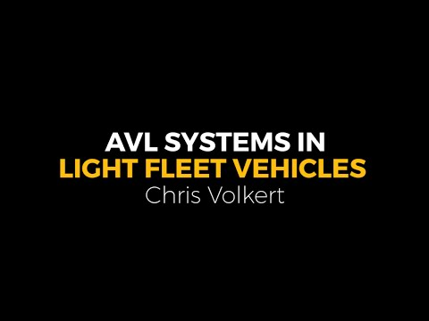 13 - NatEquip16 - AVL Systems in Light Fleet Vehicles