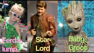 Lane Meets Baby Groot and Peter Quill aka Star-Lord from Guardians of the Galaxy