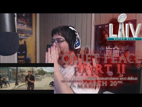 A Quiet Place Part II Big Game Spot/Featurette Trailer REACTION!!