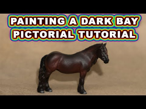 How to Paint a Dark Bay Model Horse - Pictorial Tutorial