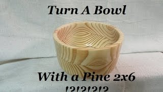 Turn Your First Bowl, Tips to Bowl Turning With Out Takes