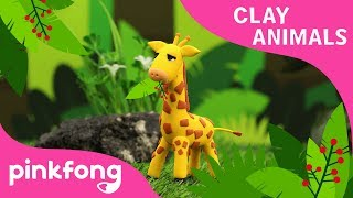 How to make Giraffe with Clay | Clay Animals | Che Che Koolay | Animal Songs | Pinkfong Clay Time