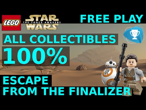 Lego Star Wars The Force Awakens - Escape from the Finalizer 100% Gold Bricks + Collectibles