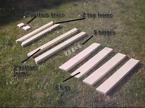 How To Build Folding Sawhorse / Trestle / Work Bench   YouTube