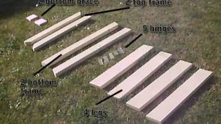 How To Build Folding Sawhorse / Trestle / Work Bench