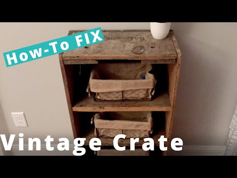 How I Restored a Vintage Wooden Crate | DIY Woodworking Project