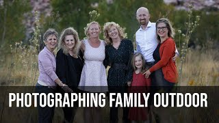 Behind the scenes family of 7 outdoors on location session