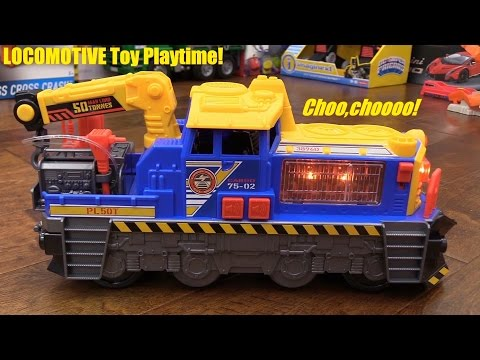 Kids' Toy Trains: Dickie Toys Diesel Train Unboxing and Playtime with Marxlen. Locomotive!