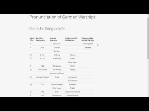 Pronunciation of German Ship Names - Destroyer Edition - World of Warships