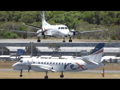 TAKEOFF & LANDING | Regional Express (REX) Saab 340B's at Perth Airport