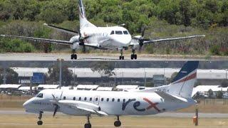 TAKEOFF & LANDING | Regional Express (REX) Saab 340B's at Perth Airport Top 10 Video