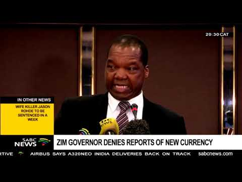 Zimbabwe's Reserve Bank Governor denies claims of a new currency