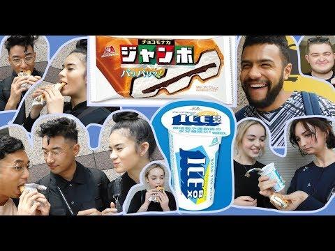 外国人が日本のアイスに感激!Foreign people trying Japanese ice cream